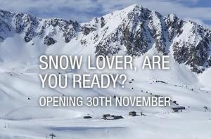 Grandvalira ski opening 30 november 2013
