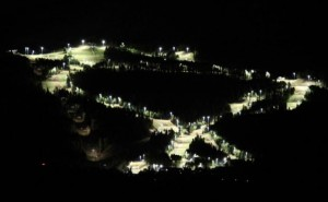 Masella skiing by night on illuminated pistes