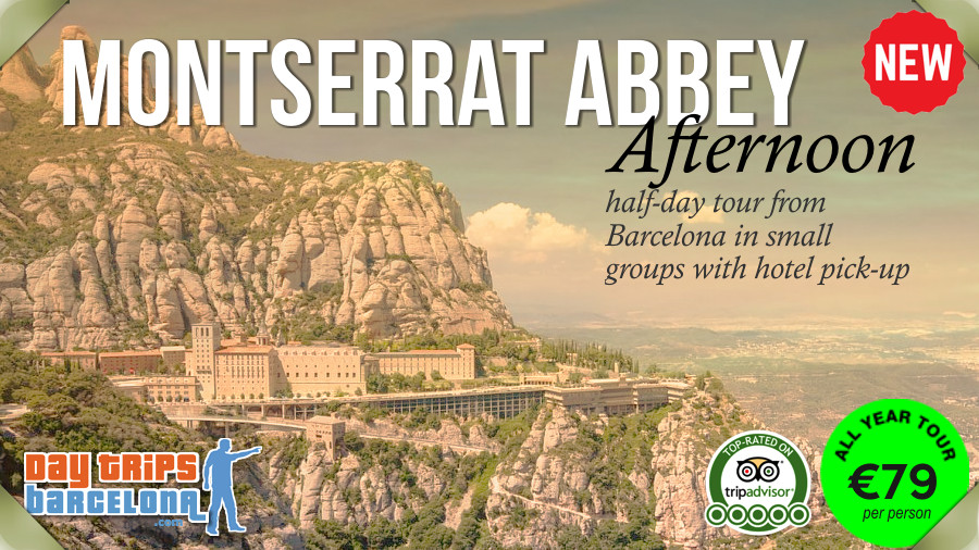 Afternoon Half-day tour to Montserrat near Barcelona with hotel pick-up