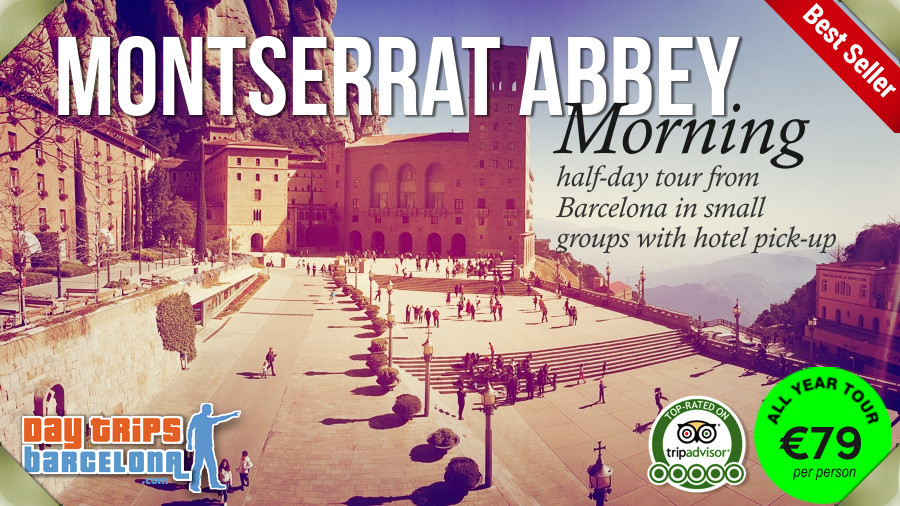 Half-day tour with hotel pick-up Barcelona to Montserrat Abbey