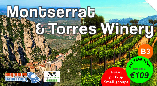 Day Tours Montserrat and Wine  - www.daytripsbarcelona.com