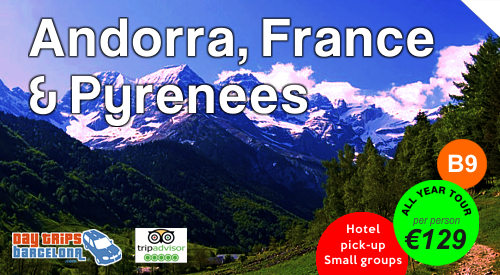 Day Tour - 3 countries in 1 day. Spain France Andorra