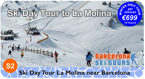 Day Ski Tour to La Molina ski resort from Barcelona