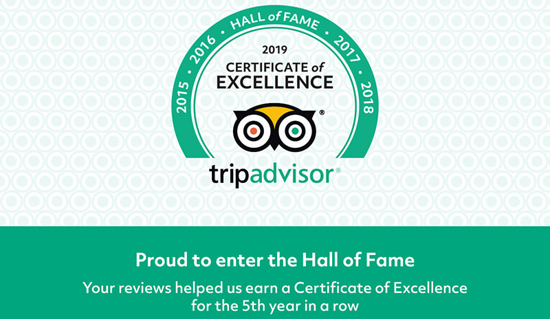Barcelona tour companies in Tripadvisor Hall of fame - certificate of excellence