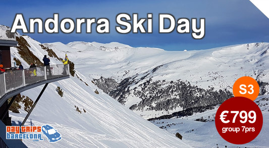 Day Tour to Ski resort Grandvalira from Barcelona